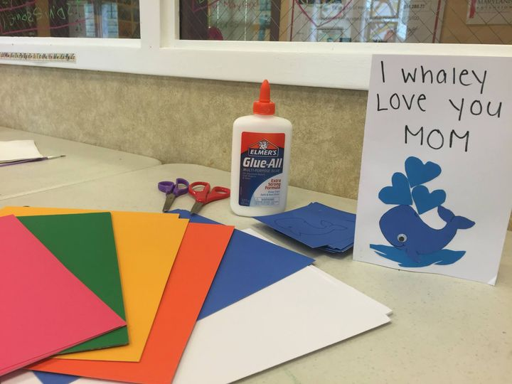 Decorating Mother's Day Card